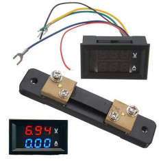 Voltmetru si ampermetru digital DC 0 - 100V 0-50A