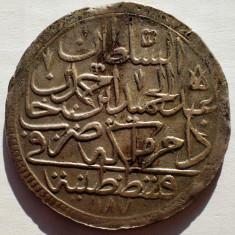 E.123 TURCIA ABDUL HAMID I 2 ZOLOTA 1187/8/1781 BILLON/ARGINT? 25, 8g - Moneda Medievala, Europa