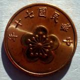 7.168 TAIWAN 1/2 YUAN 1981+ AUNC, Asia, An: 1980