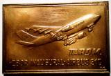 5.220 PLACHETA AVIATIE TAROM ZBOR INAUGURAL AIRBUS 310 (1992) 61/41mm