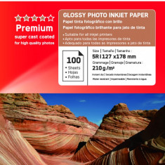 HARTIE FOTO AGFA GLOSSY INKJET 13X18 210G/100COLI - Hartie foto imprimanta