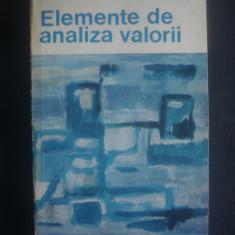 PAUL PETRECU, TEODOR GHERASIM - ELEMENTE DE ANALIZA VALORII - Carte Management