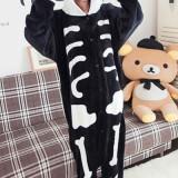 PJM9-1122 Pijama intreaga kigurumi, model anatomic schelet - Pijamale dama, Marime: S/M, Negru