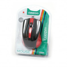 MOUSE OMEGA OM05R ROSU/NEGRU USB, Optica