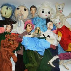 Lot marionete, papusi vechi de teatru pentru copii, romanesti - papusa veche