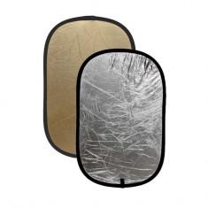 Blenda ovala 2in1 gold-silver 60x90cm - Echipament Foto Studio