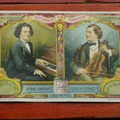 Cartonas de epoca Rubinstein & Wilhelmj cromolitografie Liebig Company's Extract - Cartonas de colectie