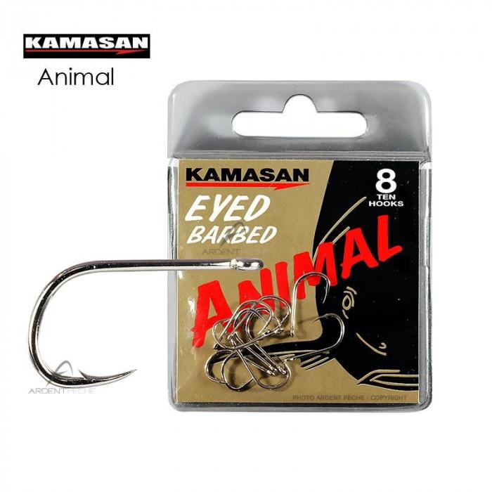 Carlige Kamasan Animal Fara Ochet  Nr 8 10 12 14 16 18 20  / 10 ace pe plic foto mare
