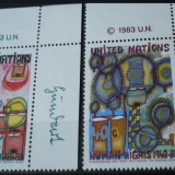 NATIUNILE UNITE NEW YORK 1983 – DREPTURILE OMULUI, serie nestampilata UN26 - Timbre straine