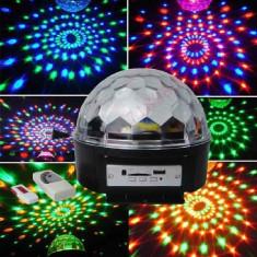 Glob disco lumini cu Telecomanda + stik stic stick usb - Laser lumini club