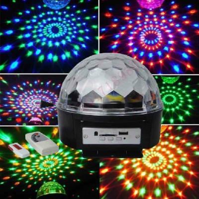Glob disco lumini cu Telecomanda + stik stic stick usb foto