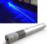 Blue laser Pointer 50000 MW  Laser Albastru cu Acumulatori si 5 Capete 3D