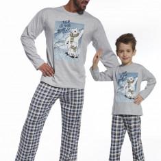 Pijama barbati, colectia Tata si Fiu - Cornette - 124-64 Top of the world - Pijamale barbati, Marime: S, XXL, Culoare: Albastru