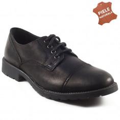 Pantofi barbati piele naturala WEST COAST negru (Marime: 40) - Pantof barbat, Casual