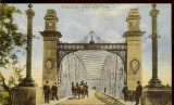 Carte postala, Slatina, Podul peste Olt, circulata cca. 1920-25, Printata
