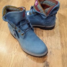 OFERTA! Bocanci TIMBERLAND originali piele waterproof nubuck albastru+tesut 43 - Bocanci dama Timberland, Piele naturala