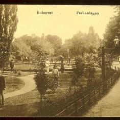 Carte postala, Bucuresti, Parcul Cismigiu, cca.1917, Necirculata, Printata
