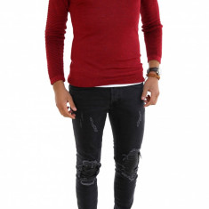 Pulover tip Zara grena - pulover barbati - cod 7320, Marime: L, XL, Culoare: Din imagine