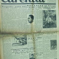 Curentul 6 ianuarie 1941 Horia Sima Ferdinand Bratianu plugusor legionar - Ziar