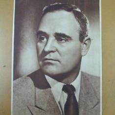 Gheorghe Gheorghiu - Dej portret anii 1950 comunism - Carte postala tematica, Necirculata, Printata, Italia