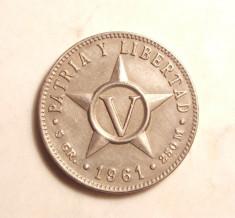 CUBA 5 CENTAVOS 1961 -UNC foto