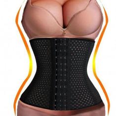 Corset modelator talie-waist trainer Centura de slabit burtiera, Marime: Alta, Culoare: Bej, Negru