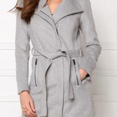 Palton din lana Vero Moda - art. 10159247 gri melange - Palton dama Vero Moda, Marime: 42