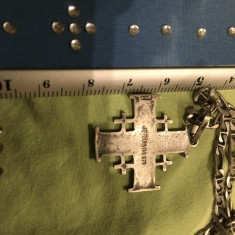 Jerusalem-crucifix si lantisor din Argint - Lantisor argint, Unisex