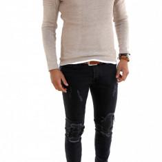 Pulover tip Zara bej - pulover barbati - cod 7314, Marime: XL, Culoare: Din imagine