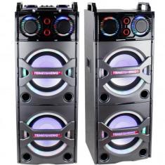 SISTEM 2 BOXE ACTIVE,MIXER,MP3 PLAYER INCLUS,MICROFOANE WIRELESS,BLUETOOTH,NOI.