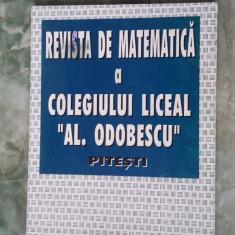 REVISTA DE MATEMATICA COLEGIUL LICEAL ODOBESCU NR 1 ANUL 1 - Revista scolara