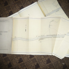 Caiet Harta Navigatie pe Dunare Bratul Sulina, scala 1:10000 -1963