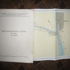 Caiet Harta Navigatie pe Dunare Bratul Macin, scala 1:25000 -1963