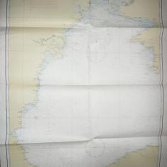 Harta navigatie- Marea Neagra parte vest1970 scara 1:750 000, dim.=100x144cm