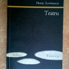 Horia Lovinescu - Teatru - Carte Teatru