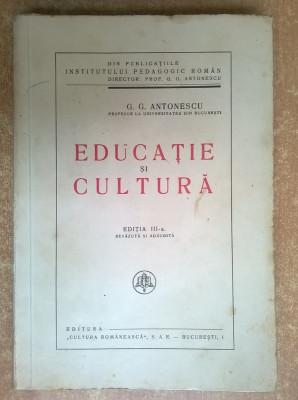 G. G. Antonescu - Educatie si cultura foto