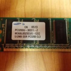Ram PC Samsung 512 Mb DDR1 pc3200U M368L652CUS - Memorie RAM Samsung, 400 mhz