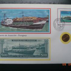 Paraguay - Plic ( FDC ), moneda si bancnota. - bancnota america