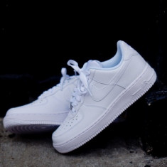 Adidasi Nike Air Force 1 unisex- Alb - Adidasi barbati Nike, Marime: 36, 37, 38, 39, 40, 41, 42, 43, 44, Piele sintetica