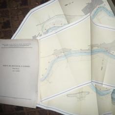 Caiet Harta Navigatie pe Dunare Bratul Borcea, scala 1:25000 -1963