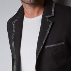 Sacou Zara man original marimea S slim fit - Sacou barbati Zara, Culoare: Negru