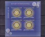 ROMANIA  2005  LP 1673  CENTENARUL  ROTARY   BLOC  MNH, Nestampilat
