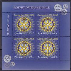 ROMANIA 2005, LP 1673a, ROTARY BLOC DE 4 SERII MNH - Timbre Romania, Nestampilat