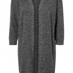 Cardigan din acryl - Vero Moda - art. 10163427 gri inchis melange - Pulover dama Vero Moda, Marime: 38