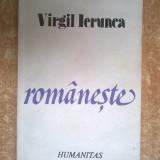 Virgil Ierunca – Romaneste