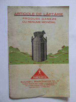 RARA! CARTICICA PUBLICITARA ARTICOLE DE LAPTARIE DANEMARCA 1934 foto