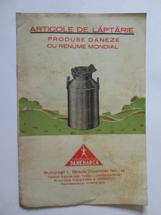 RARA! CARTICICA PUBLICITARA ARTICOLE DE LAPTARIE DANEMARCA 1934