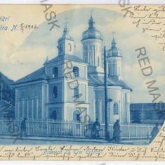 3516 - Litho, PIATRA NEAMT, Church Trei Ierarhi - old postcard - used - 1902 - Carte Postala Moldova pana la 1904, Circulata, Printata