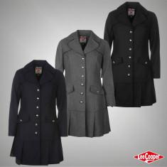 Palton subtire Geaca Jacheta Dama Lee Cooper original - marimea XS S M L XL - Palton dama, Culoare: Gri, Indigo, Negru