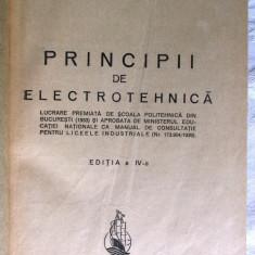 Carte veche: PRINCIPII DE ELECTROTEHNICA, Ed.IV, Stefan Georgescu Gorjan, 1943 - Carti Electrotehnica